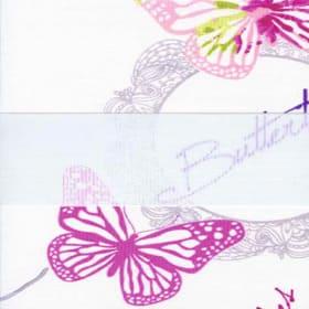 зебра БАБОЧКИ 4096 розовый, 260 см
