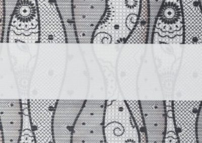 зебра КРУЖЕВО 1852 серый, 280 см